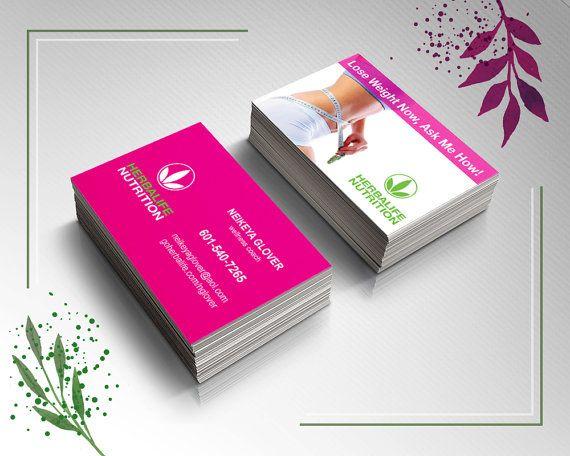 Herbalife Business Cards Pink Herbalife Business Cards Herbalife Business Herbalife