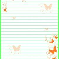 Butterfly Stationary - print unlimited pages of this wonderful butterfly stationary as you write notes, keep a journal, or simply draw pictures!