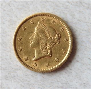 1852 Liberty 1 Dollar Gold Us Coin Coins Us Coins Gold Coins