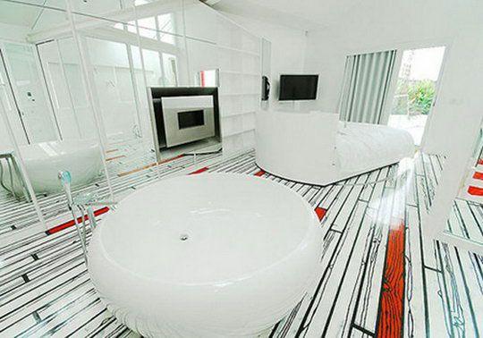 19 Beautiful And Unusual Flooring Designs Design Swan Floor Design White Bathroom Designs House Design