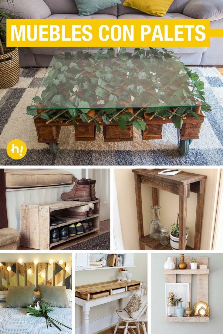 15 Muebles Con Palets Que Puedes Hacer Para Tu Casa Decoracion - Manualidades-palets