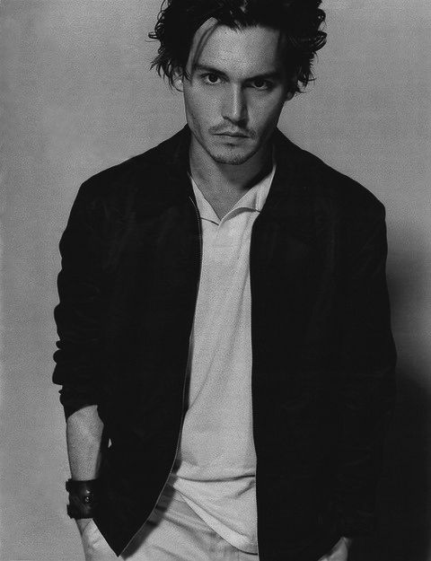 Johnny depp black and white photography