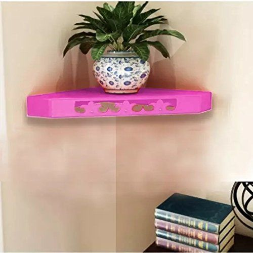 Onlineshoppee MDF Decorative Wall Shelves for Living room empty wall corners - Pink ** Details can be found by clicking on the image. (This is an affiliate link and I receive a commission for the sales)