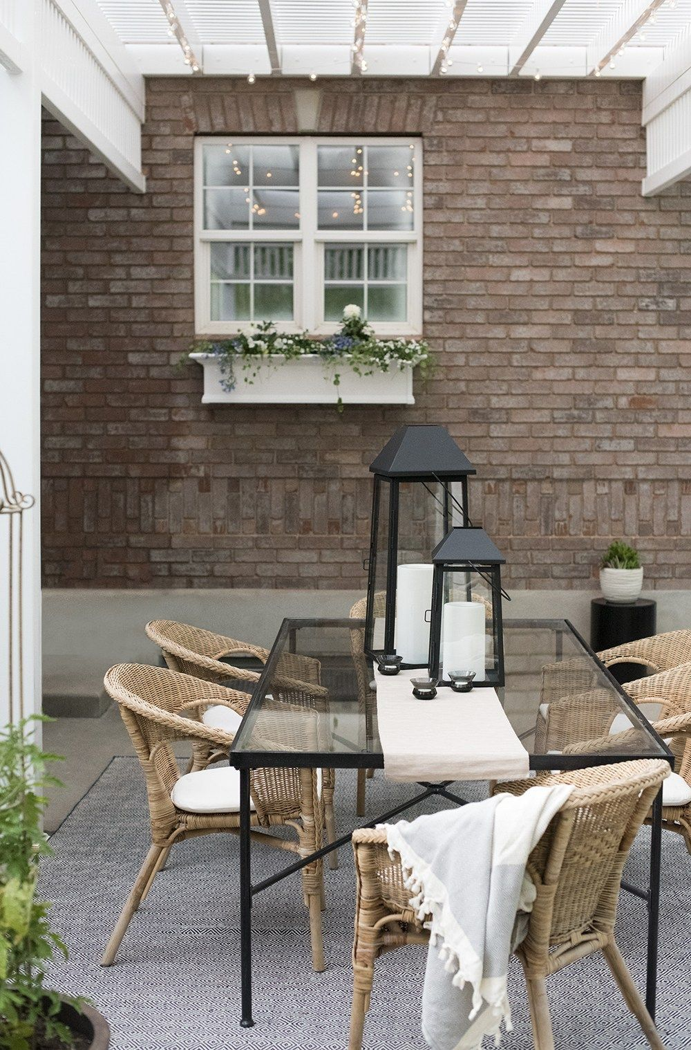 Our Patio & Outdoor Living Space   Outdoor living, Outdoor ... on Living Spaces Outdoor Dining id=45356