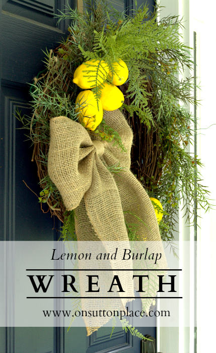 Step-by-step directions for making this Lemon and Burlap Wreath that anyone can do!