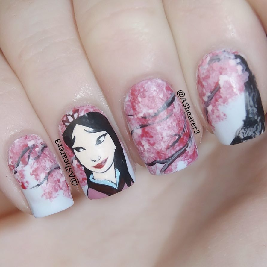 "Mulan Inspired Nails: Disney's ""Mulan"" Nail Art"