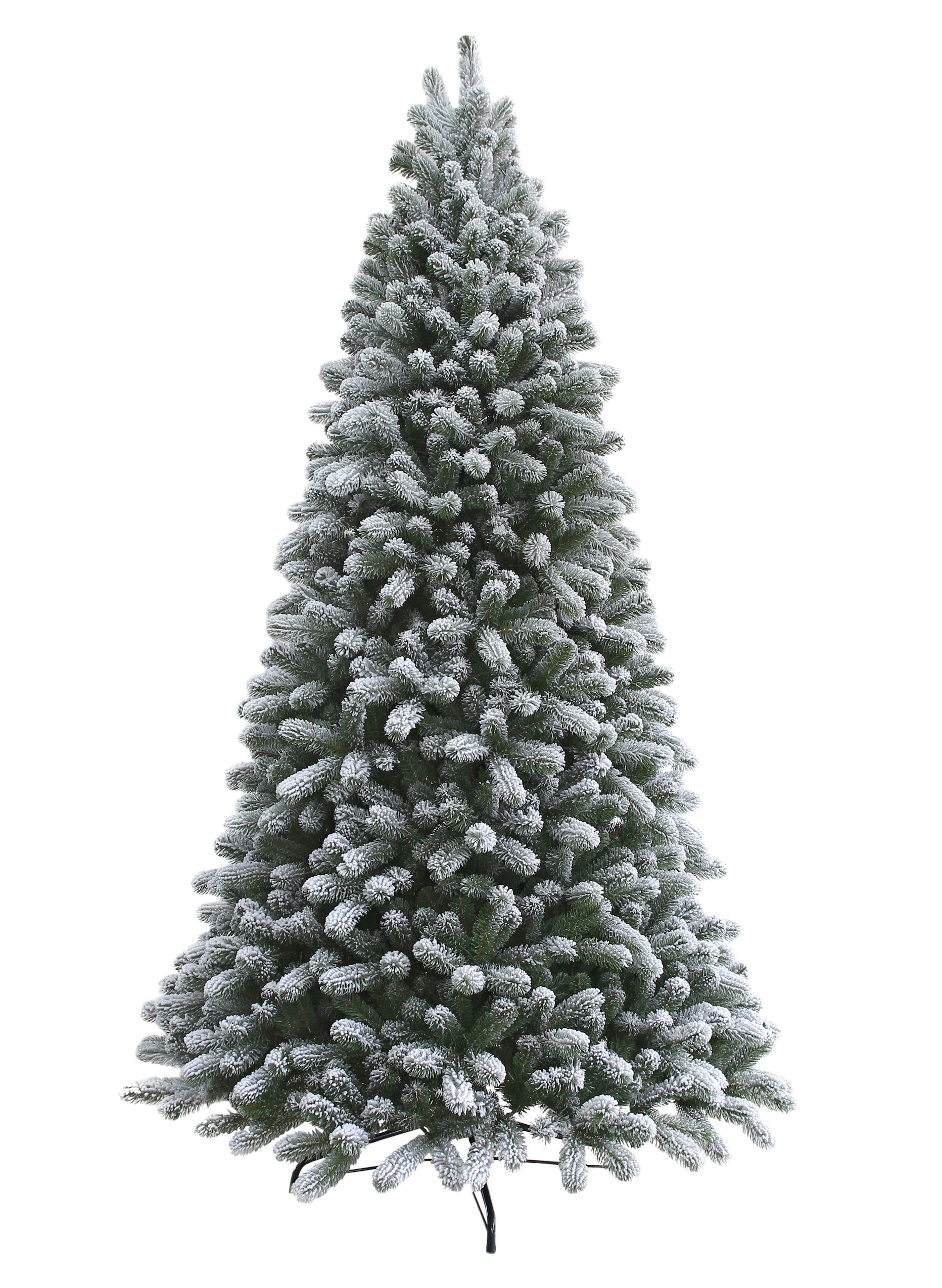 12 Foot King Flock Quick-Shape Artificial Christmas Tree with 1700 ...