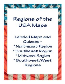 Regions of the U.S. Maps - Labeled Maps and Blank Map Quizzes ...