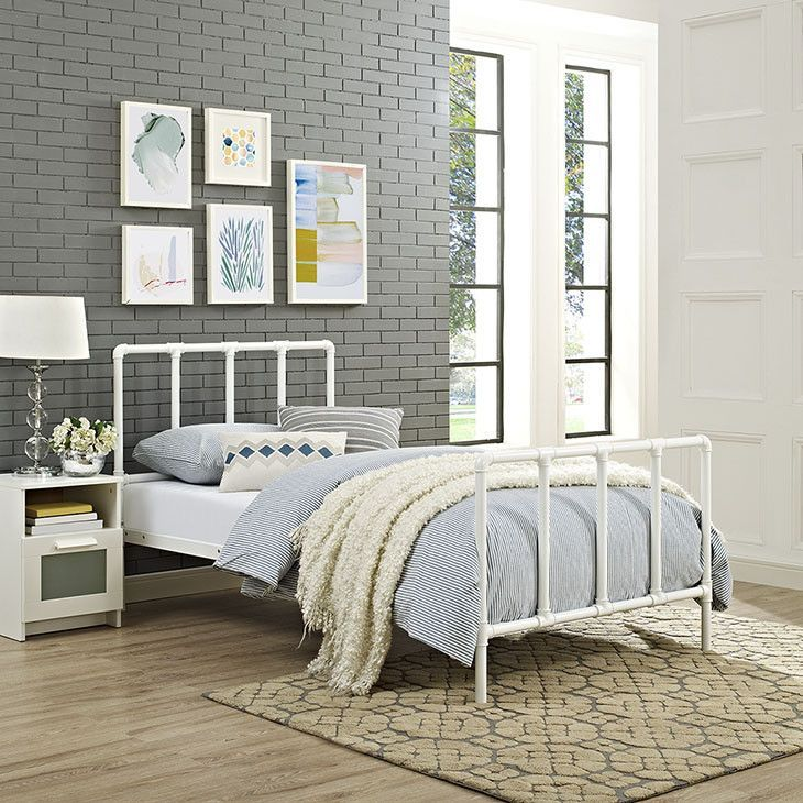 Twin Bed In White - MOD-5435-WHI