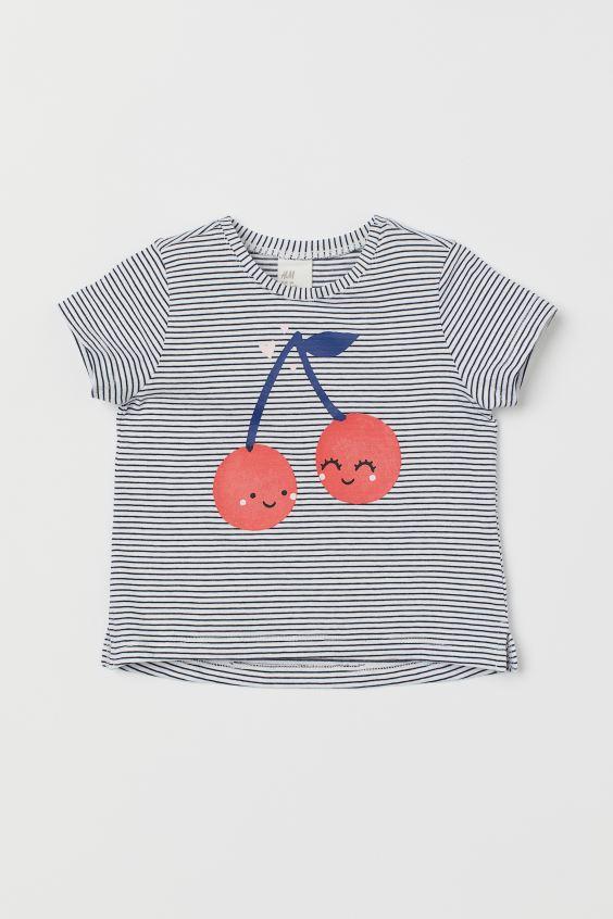 Conjunto de algodón 2 piezas BlancoCerezas NIÑOS | H&M ES
