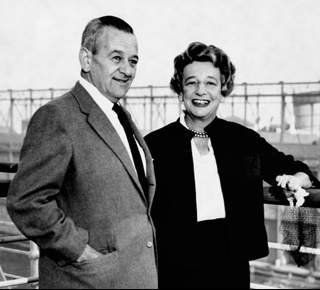 "William Wyler discussing ""The Children's Hour"" with author Lillian ..."