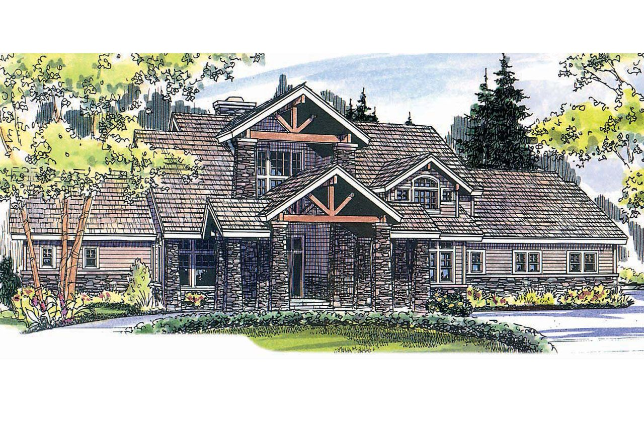 Lodge Style House Plan   Timberfield 30 341 From Associated Designs