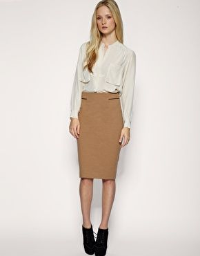 Pencil skirts, Camel and Pencil on Pinterest