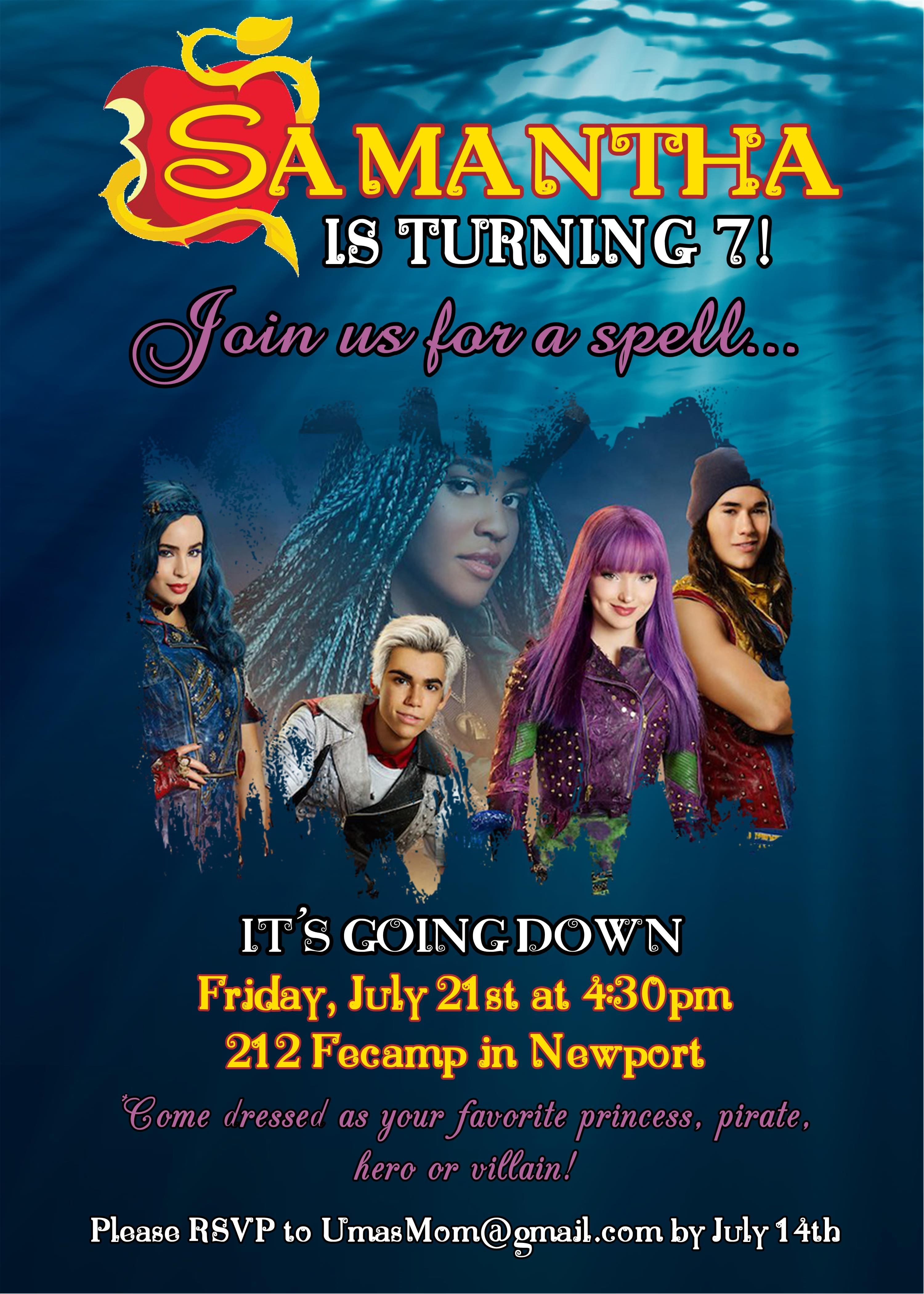Pin by Sweet Pea Parties on Descendants 2 Birthday Party