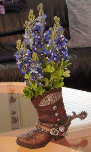 Bluebonnet flower arrangements
