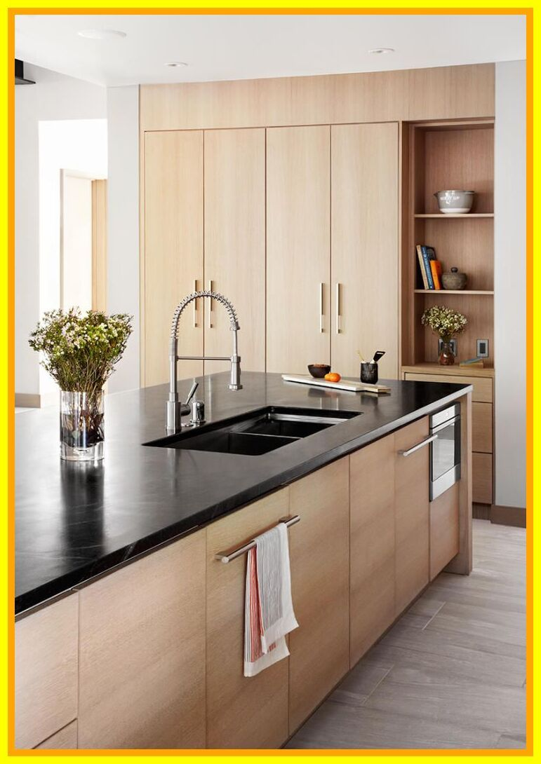 40 Reference Of Dark Countertops Light Cabinets In 2020 Kitchen Interior Modern Kitchen Cabinets Modern Kitchen