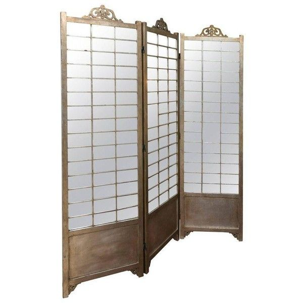 Hollywood Regency Mirror and Silver Gilt Screen (3,380 CAD) ❤ liked