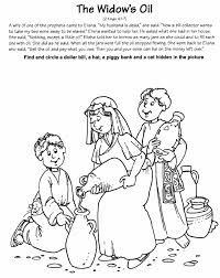 Coloring Pages Of Elisha And The Poor Widow Google Search