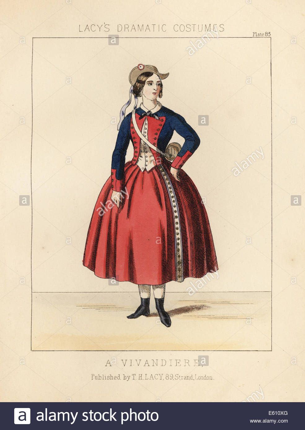 Download This Stock Image Costume Of A Vivandiere Or Female Sutler With The French Army 19th Century E610xg From Alamy S French Army Stock Photos Costumes