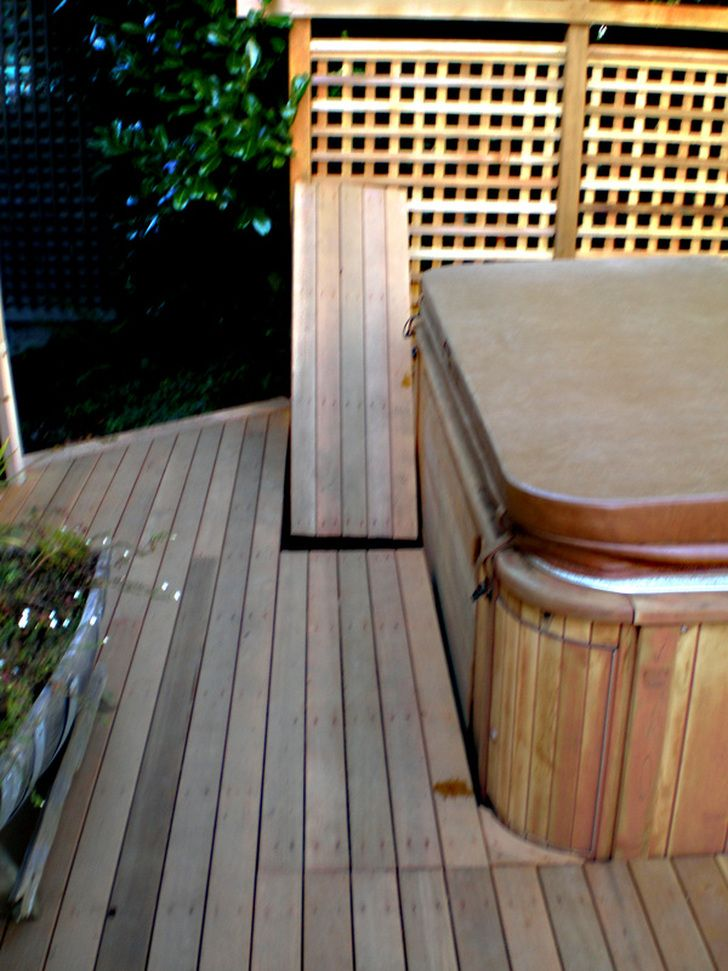 Removable Deck Panels For Access To Hot Tub Front Hot