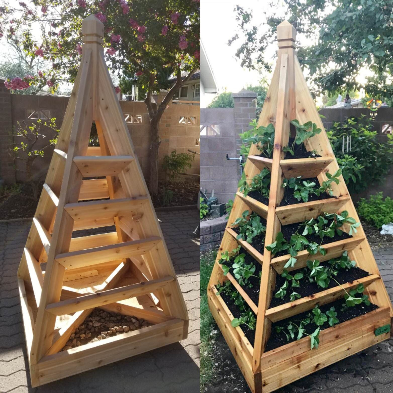 How To Make A Slot Together Pyramid Planter Gardening Pallets
