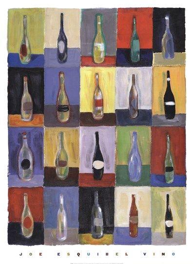 Vino By Joe Esquibel Vino Art Framed Canvas Prints Stretched Canvas Prints