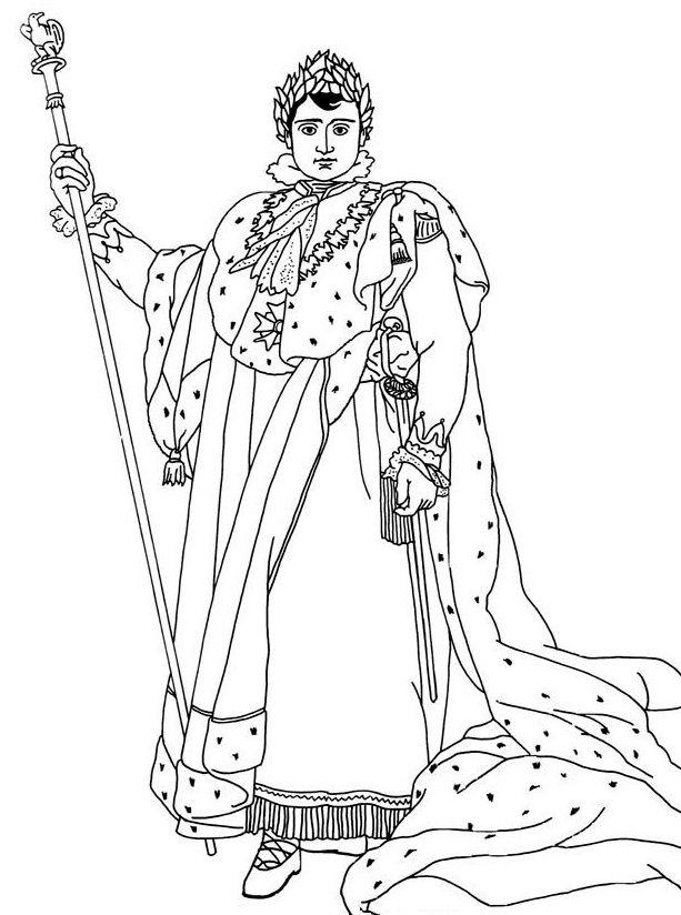 Napoleon En Habit De Sacre Coloring Pages Drawings Craft Images