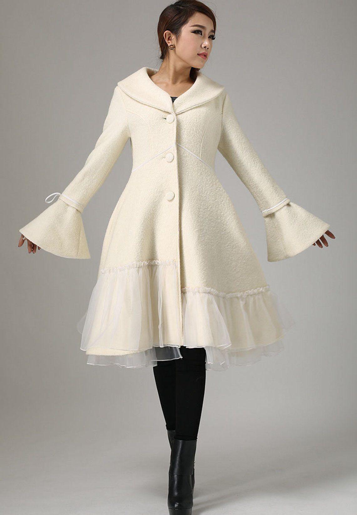 White Wool Coat Wool Coat Winter Coat Wool Coat For Women Etsy Asian Style Dress Fall Fashion Coats White Wool Coat [ 1646 x 1140 Pixel ]