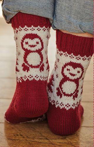 Paulie the Penguin Socks pattern by Mone Dräger | Socken stricken ...