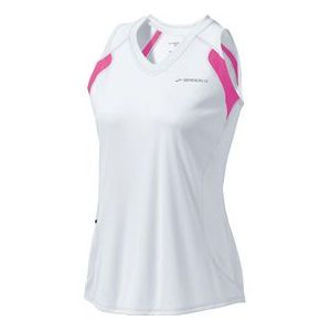 #Brooks Epiphany Sleeveless - With visibility, sun protection, and moisture management taken care of, this sleeveless top lets you focus on running your best. The v-neck and improved fit are flattering and look great on starting lines or training runs. $30.00 (06/13)