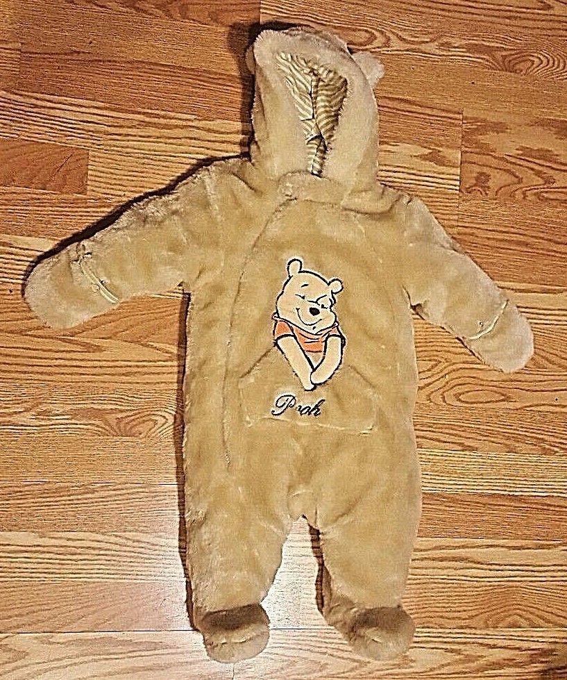 b4b19b31c Disney Winnie the Pooh Infant Pram Snowsuit Winter Faux Fur Bunting Unisex  6-9 M #Disney #Snowsuit