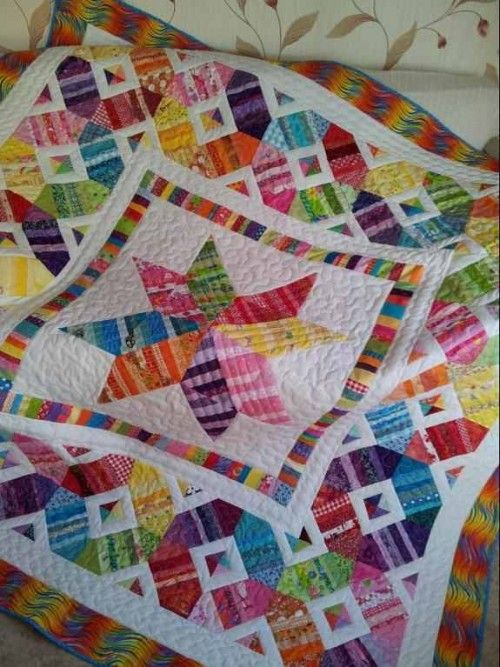 Best Izy S Scrap Happy Star Quilt Pattern Star Quilt Patterns 640 x 480