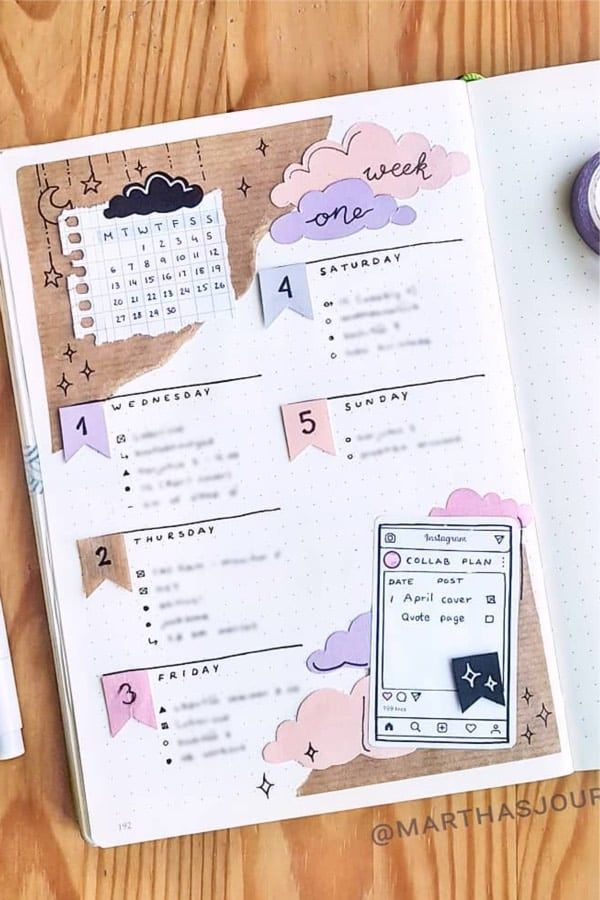 25+ Best Scrapbook Bullet Journal Spreads For 2020