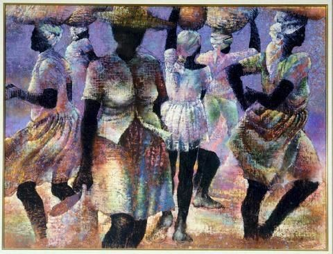 AFRICAN AMERICAN ART PRINT Cousins by the Dozen Paul Goodnight