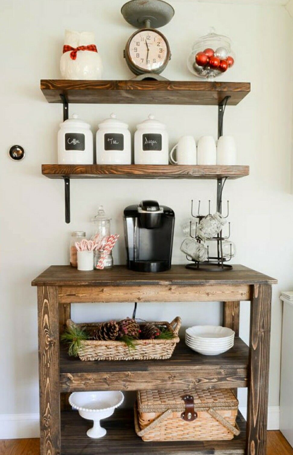Pin by Mary Jacobs on rustic farmhouse decor Coffee bar