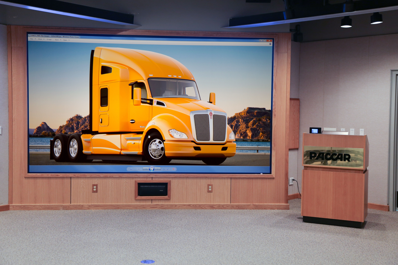 Boardroom Display Dnp Supernova Screen Digital Signage Rear