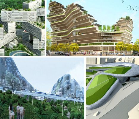 Neat Buildings Futuristic Eco Housing Visionary Green Public Space Ideas Webecoist Eco House Design Sustainable City Public Space