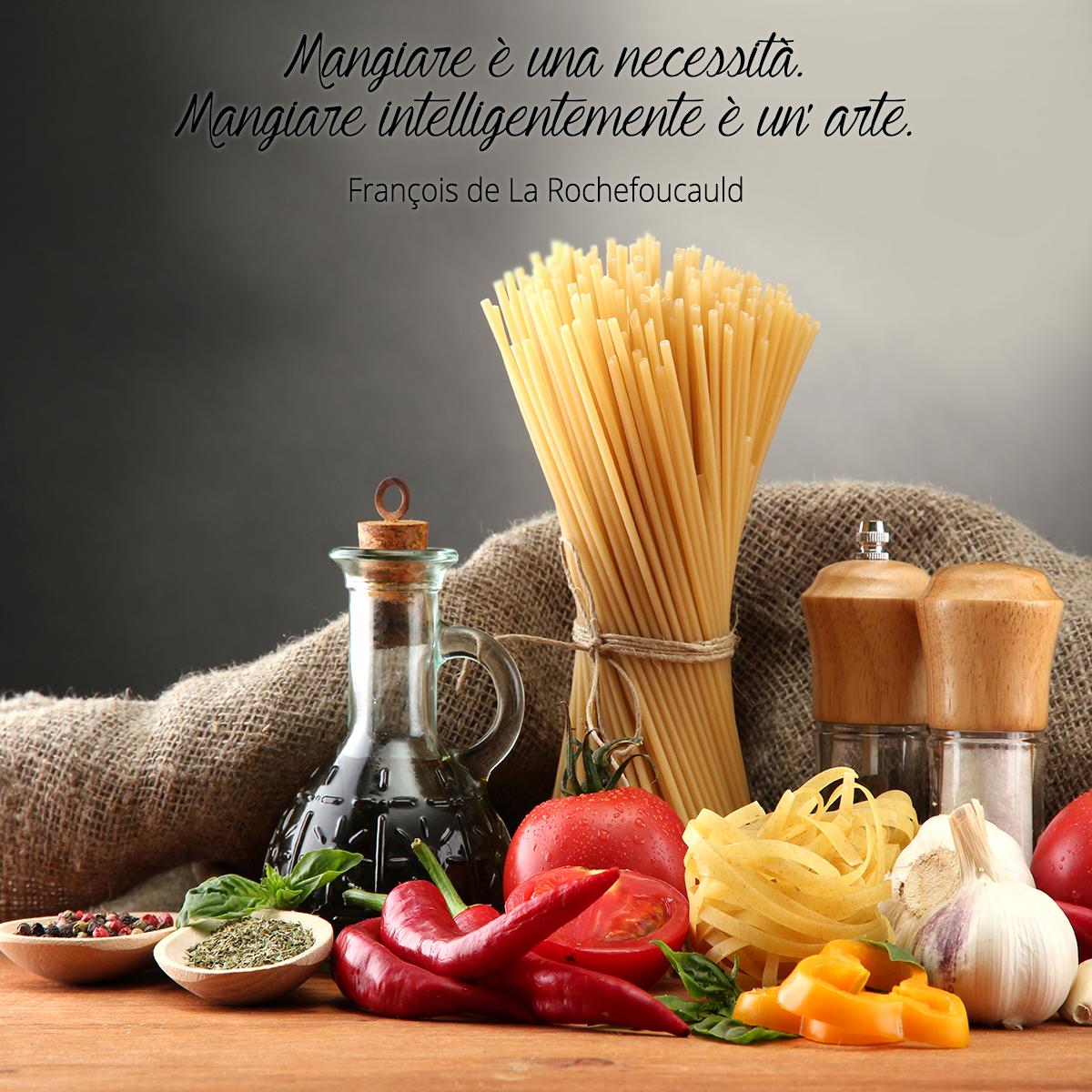 Populaire Mangiare è una necessità. Mangiare intelligentemente è un'arte  WO58