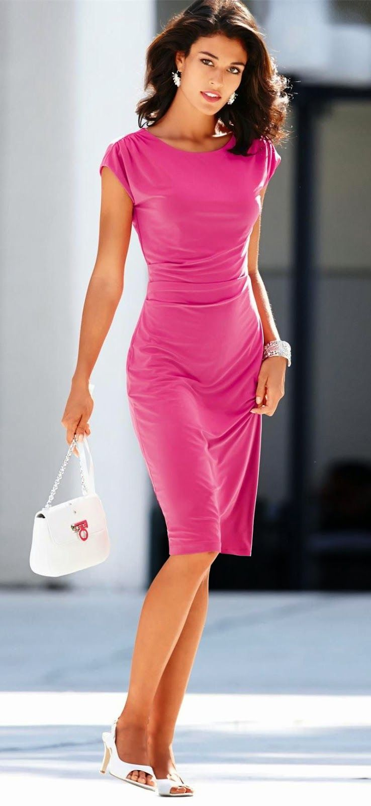 MADELEINE PINK DRESS | vestidos | Pinterest | Ejecutivo, Vestir ...