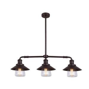 globe electric 3light oil rubbed bronze and glass vintage pendant