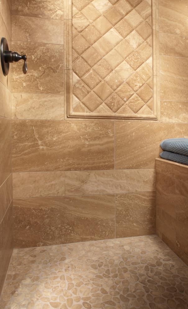 Travertine Shower Traditional Bathroom Atlanta By Floor Decor Travertine Shower Kitchen Bathroom Remodel Master Bath Shower Tile