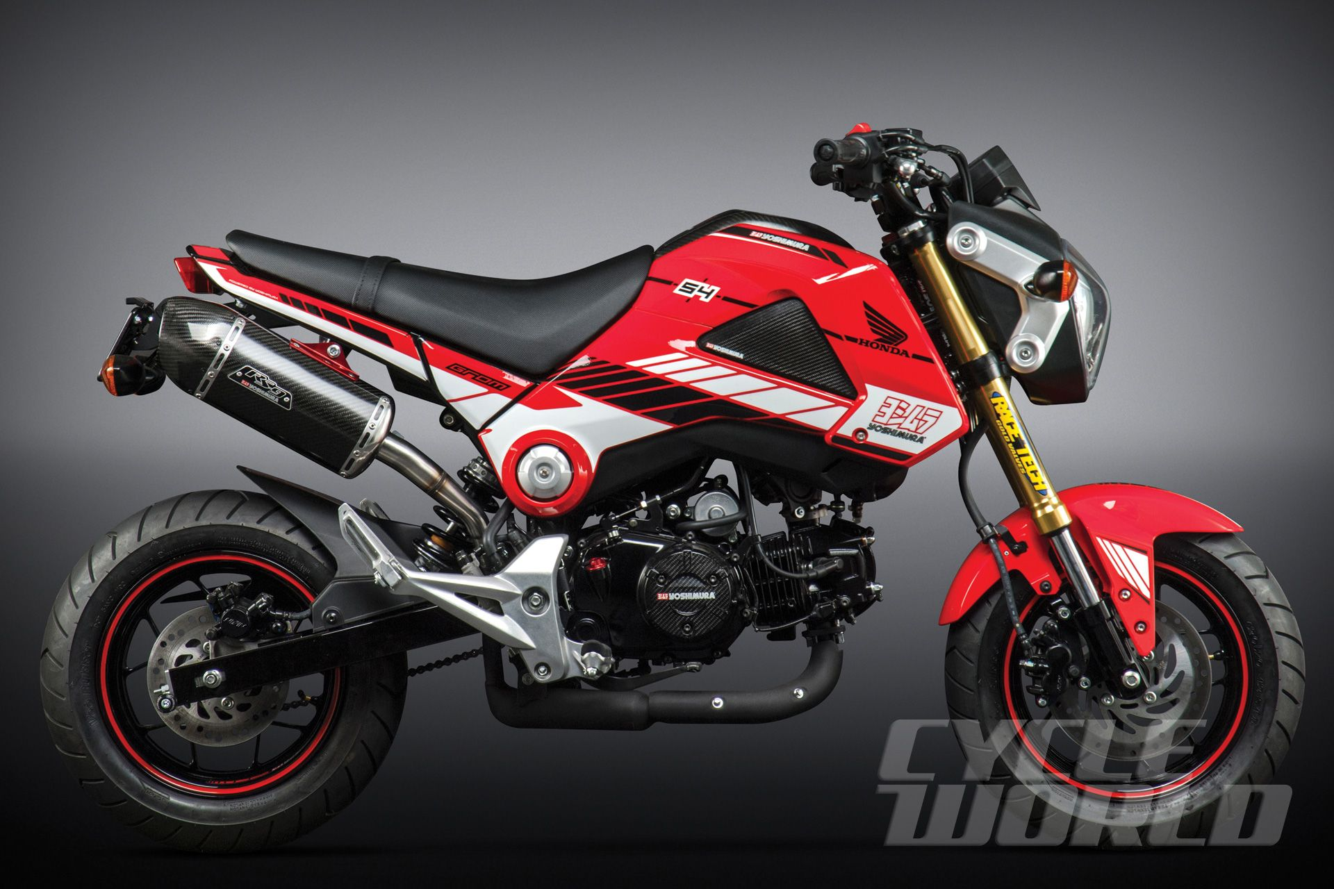 2014 honda grom with yoshimura exhaust system. | down shift
