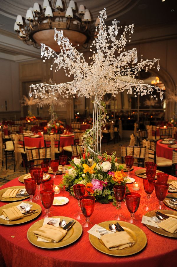 Elegant Pink And Gold Wedding Tree Centerpieces Centerpieces And