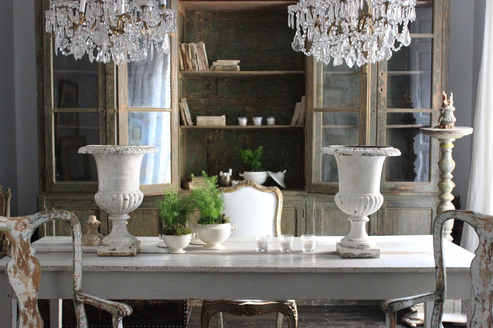 Antiques in the Dining Room