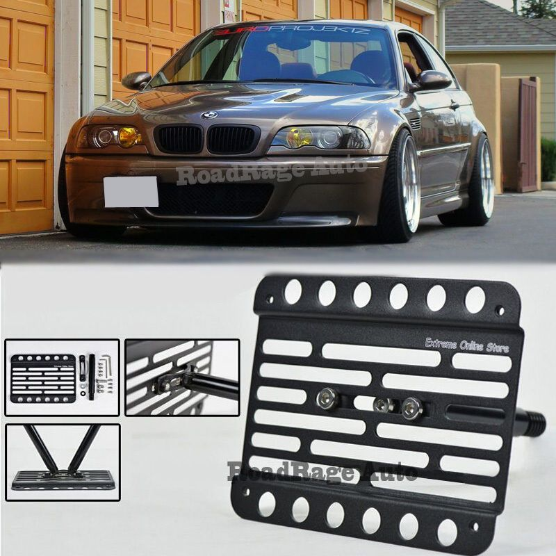 For 0106 BMW E46 M3 Front Tow Hook License Plate Relocator