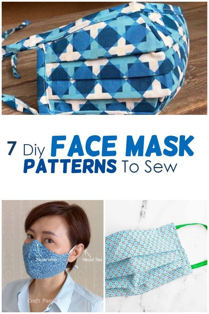 10+ Diy Face Mask Patterns To Sew (+ A Lot Of Helpful Info) - AppleGreen Cottage