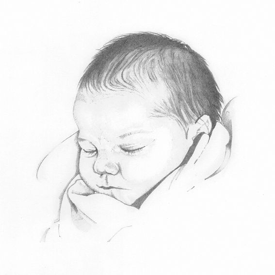 SO REALISTIC! omg this is adorable!   Baby drawing, Baby ...