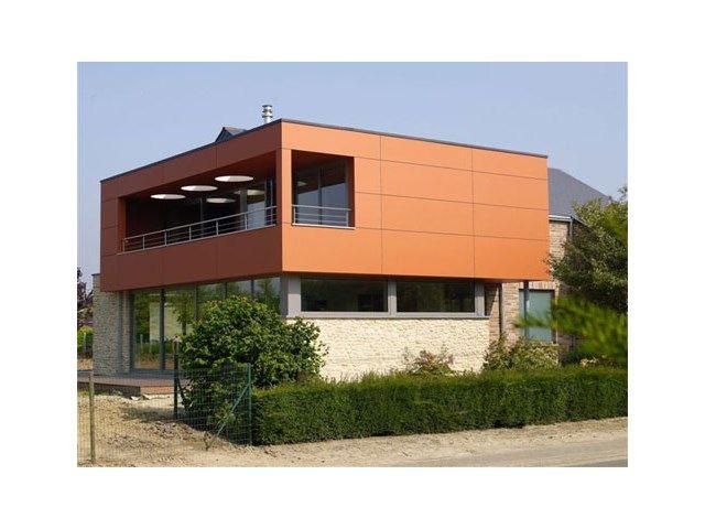 Parement de façade • maison moderne • cube • www.svk.be/fr-be ...
