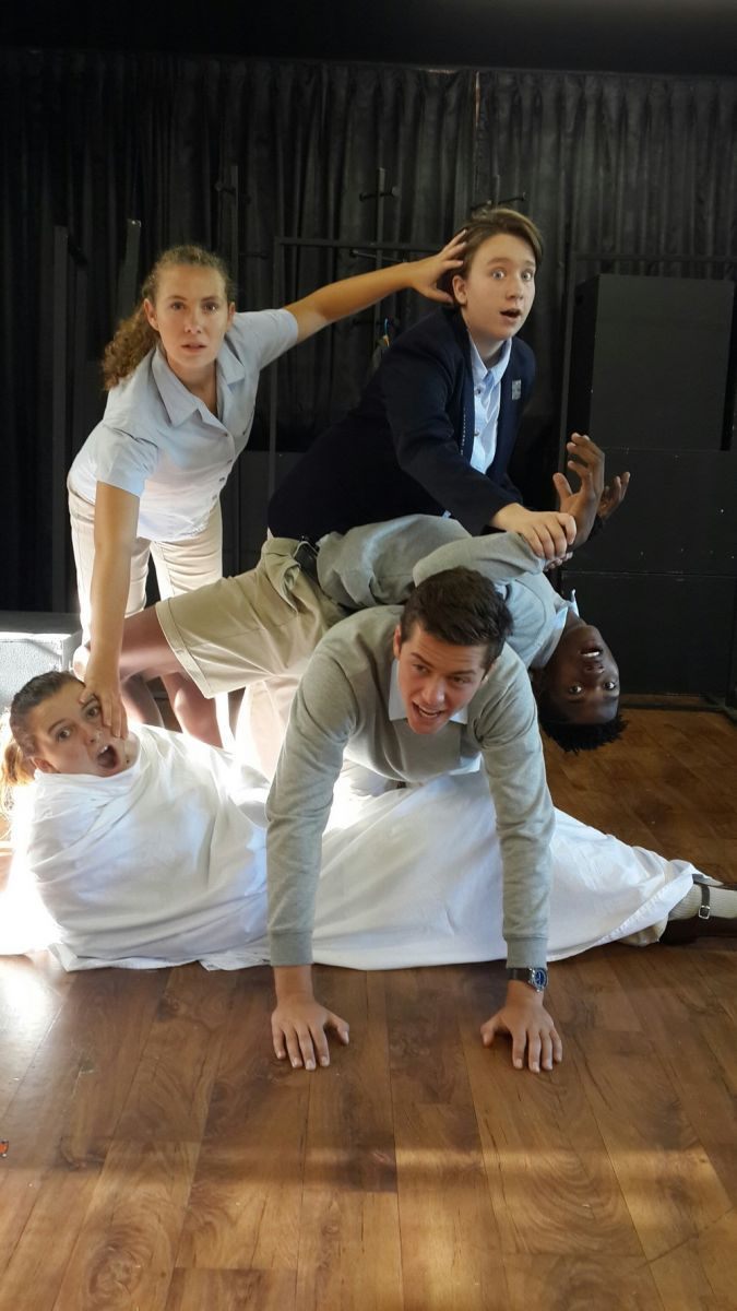 Early in the year Grade 12 Drama students were preparing for their first integrated task. The students are stretched to their full creative potential and often extended beyond the walls of the classroom.