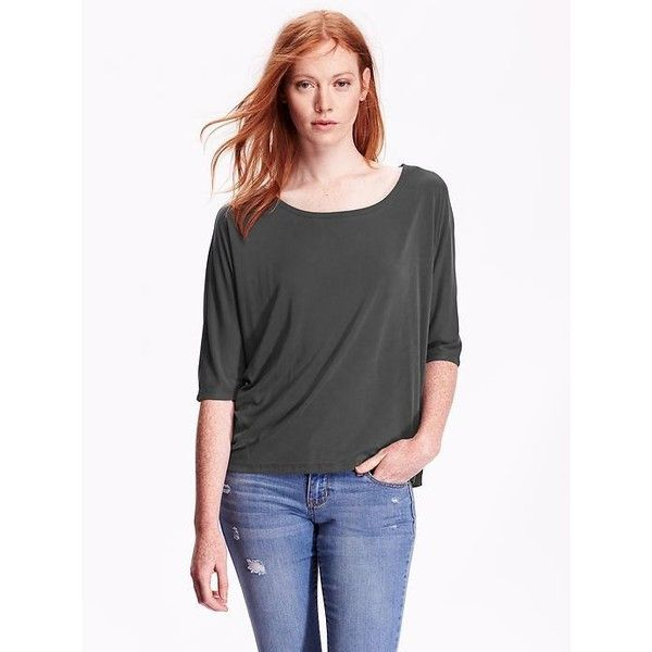 f8b45e9f169 Old Navy Womens Cocoon Hi Lo Tee ($9.97) ❤ liked on Polyvore ...